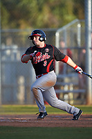 Illinois State Redbirds second baseman Joe Kelch (3) at bat during a game against the Indiana Hoosiers on March 4, 2016 at North Charlotte Regional Park in Port Charlotte, Florida.  Indiana defeated Illinois State 14-1.  (Mike Janes/Four Seam Images)