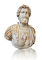 Roman sculpture bust of Septimius Severus made between 196 and 197 AD and excavated from Ostia. Severus became Roman emperor in 193 AD After deposing and killing the incumbent emperor Didius Julianus. In 202, he campaigned in Africa and Mauretania against the Garamantes; capturing their capital Garama and expanding the Limes Tripolitanus along the southern frontier of the empire. Late in his reign he travelled to Britain, strengthening Hadrian's Wall and reoccupying the Antonine Wall. Severus died in early 211 at Eboracum (today York, England), succeeded by his sons Caracalla and Geta who fought constantly until Caracalla had Geta murdered. The National Roman Museum, Rome, Italy