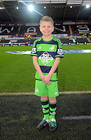 Child mascot before the Barclays Premier League match between Swansea City and Crystal Palace at the Liberty Stadium, Swansea on February 06 2016