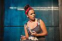 London, UK. 01.11.2012. KHADIJA TURNS 18, by Shamser Sinha, opens at the Finborough Theatre. Picture shows:  Aysha Kala (Khadija). Photo credit: Jane Hobson.