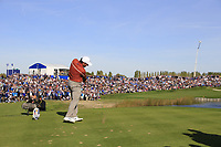 Francesco Molinari (Team Europe) tees off the 11th tee during Saturday's Foursomes Matches at the 2018 Ryder Cup 2018, Le Golf National, Ile-de-France, France. 29/09/2018.<br /> Picture Eoin Clarke / Golffile.ie<br /> <br /> All photo usage must carry mandatory copyright credit (&copy; Golffile | Eoin Clarke)