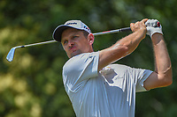 Justin Rose (GBR) watches his tee shot on 9 during round 4 of the Fort Worth Invitational, The Colonial, at Fort Worth, Texas, USA. 5/27/2018.<br /> Picture: Golffile | Ken Murray<br /> <br /> All photo usage must carry mandatory copyright credit (© Golffile | Ken Murray)