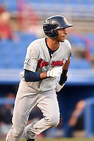 Brevard County Manatees  shortstop Yadiel Rivera (13) during a game against the Dunedin Blue Jays on April 11, 2014 at Florida Auto Exchange Stadium in Dunedin, Florida.  Brevard County defeated Dunedin 5-2.  (Mike Janes/Four Seam Images)