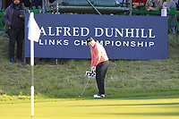 Gerry McManus (AM) on the 18th during Round 3 of the Alfred Dunhill Links Championship 2019 at St. Andrews Golf CLub, Fife, Scotland. 28/09/2019.<br /> Picture Thos Caffrey / Golffile.ie<br /> <br /> All photo usage must carry mandatory copyright credit (© Golffile | Thos Caffrey)