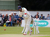 June 11th 2017, Trafalgar Road Ground, Southport, England; Specsavers County Championship Division One; Day Three; Lancashire versus Middlesex; Jordan Clark of Lancashire plays a straight drive