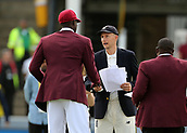 7th September 2017, Lords Cricket Ground, London, England; International Test Match Series, Third Test, Day 1; England versus West Indies; Joe Root of England shakes hands with West Indies Captain Jason Holder before the toss