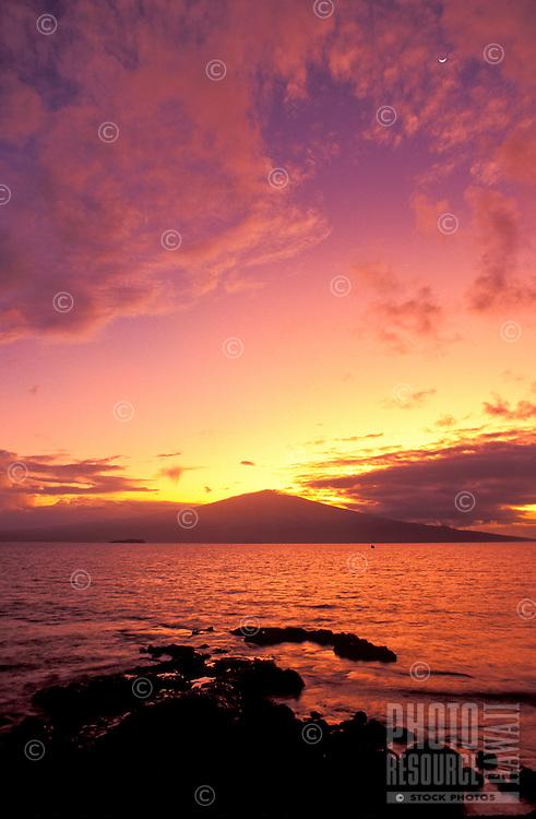 Haleakala as seen from Hakioawa Bay on the island of Kahoolawe