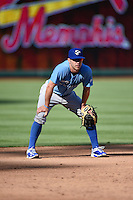 ***Temporary Unedited Reference File***Omaha Storm Chasers Dusty Coleman (8) during a game against the Memphis Redbirds on May 5, 2016 at AutoZone Park in Memphis, Tennessee.  Omaha defeated Memphis 5-3.  (Mike Janes/Four Seam Images)