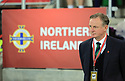 BELFAST, NORTHERN IRELAND - Nov 09: Northern Ireland's manager Michael O'Neill watches his team battle it out against Switzerland's during the 2018 FIFA World Cup play-offs first leg soccer match at Windsor Park, in Belfast, Northern Ireland November 9, 2017. Photo/Paul McErlane