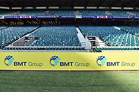 A general view of a BMT Group billboard alongside the pitch. The Clash, Aviva Premiership match, between Bath Rugby and Leicester Tigers on April 8, 2017 at Twickenham Stadium in London, England. Photo by: Patrick Khachfe / Onside Images