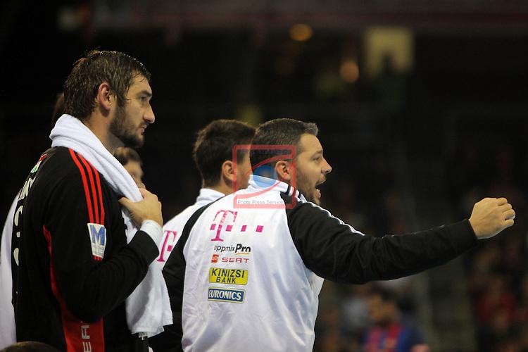 VELUX EHF <br /> 2016/17 EHF Men's Champions League Group Phase - Round 5.<br /> FC Barcelona Lassa vs Telekom Veszprem: 26-23.<br /> Mirko Alilovic &amp; Jose Maria Rodriguez.