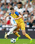Real Madrid's Carlos Henrique Casemiro (l) and Apoel FC's Roland Sallai during Champions League Group H match 1. September 13,2017. (ALTERPHOTOS/Acero)