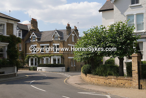 Richmond on Thames Surrey UK 2007. Traditional middle class Victorian Edwardian  family homes in a street called The Vineyard
