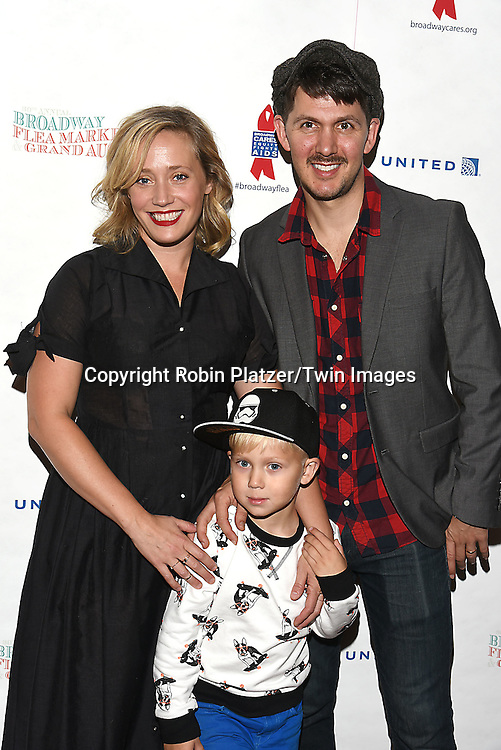 Haven Burton and son Hudson and Denny Paschall attend the Broadway Cares/Equity Fights Aids Flea Market and Grand Auction on September 25, 2016 at the Music Box Theatre and in Shubert Ally in New York, New York, USA. <br /> <br /> photo by Robin Platzer/Twin Images<br />  <br /> phone number 212-935-0770