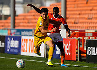 Blackpool's Sullay Kaikai battles with Milton Keynes Dons' George Williams<br /> <br /> Photographer Alex Dodd/CameraSport<br /> <br /> The EFL Sky Bet League One - Blackpool v MK Dons  - Saturday September 14th 2019 - Bloomfield Road - Blackpool<br /> <br /> World Copyright © 2019 CameraSport. All rights reserved. 43 Linden Ave. Countesthorpe. Leicester. England. LE8 5PG - Tel: +44 (0) 116 277 4147 - admin@camerasport.com - www.camerasport.com