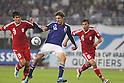 (L-R) Sohib Savankulov (TJK),  Mike Havenaar (JPN), Davronjon Ergashev (TJK),..OCTOBER 11, 2011 - Football / Soccer :..2014 FIFA World Cup Asian Qualifiers Third round Group C match between Japan 8-0 Tajikistan at Nagai Stadium in Osaka, Japan. (Photo by Kenzaburo Matsuoka/AFLO)