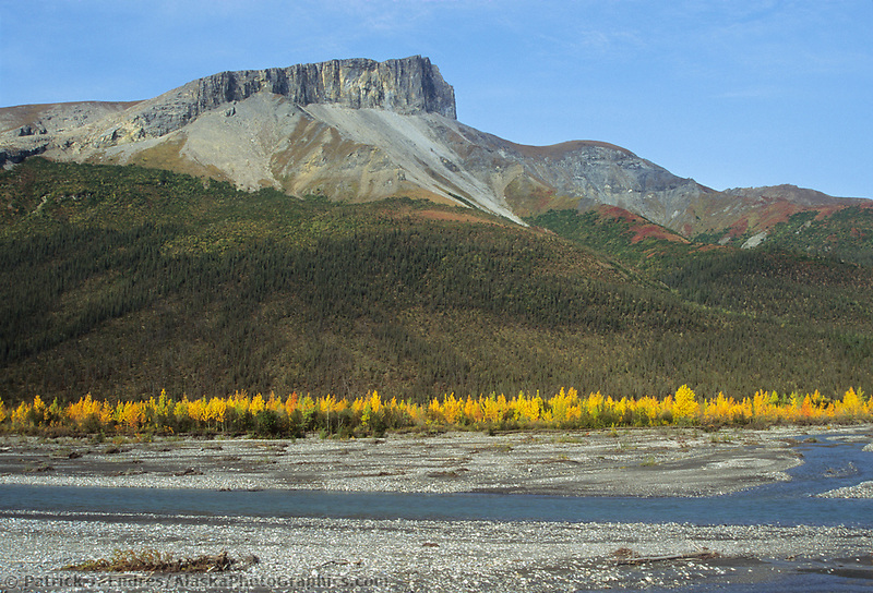 Autumn landscape of the Dietrich River and the Brooks range, Arctic Alaska