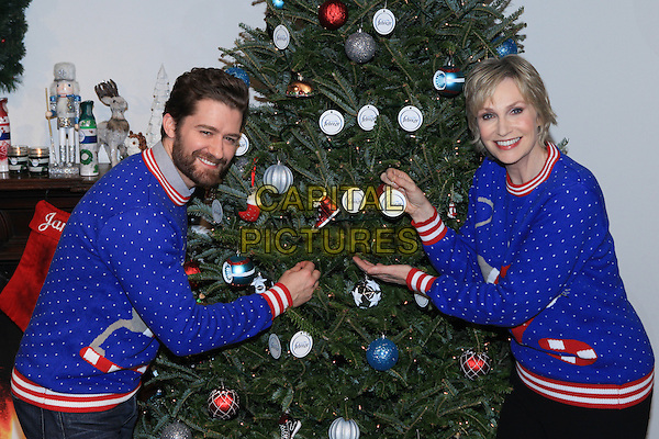 NEW YORK, NY - NOVEMBER 30:  Matthew Morrison and Jane Lynch attend Febreze 'The #12Stinks of Christmas' video debut at Lightbox on November 30, 2015 in New York City.  <br /> CAP/MPI99<br /> &copy;MPI99/Capital Pictures