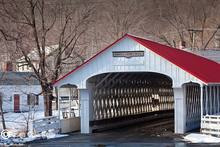 Ashuelot Covered bridge in in Winchester, NH, USA