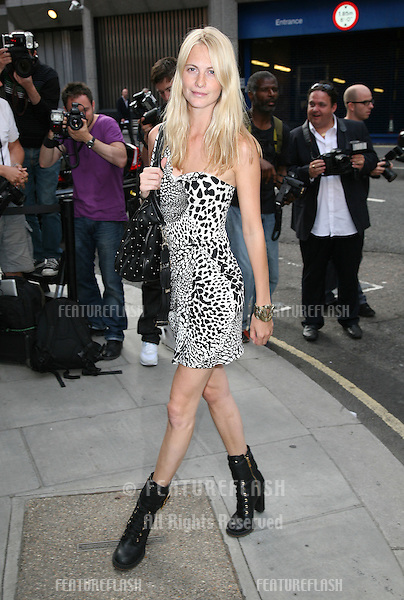 Poppy de Villeneuve arriving for the Kate Who? Private View, London. 05/07/2010  Picture by: Alexandra Glen / Featureflash