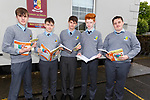 Students of St Patricks College Castleisland, who are very happy with theirb first leaving cert paper Englis on Wednesday. Michael Daly,Michael Connell,Callum,Cathal Shire and Cian O'Sullivan