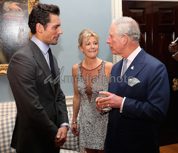 14 December 2016 - Prince Charles, Prince of Wales meets model David Gandy at the Style for Soldiers Christmas Reunion Party at Spencer House in London. The Prince of Wales met injured servicemen and women who have been helped by the charity, and others who have supported them. His Royal Highness will also meet some of the charity's patrons and ambassadors. Photo Credit: Alpha Press/AdMedia