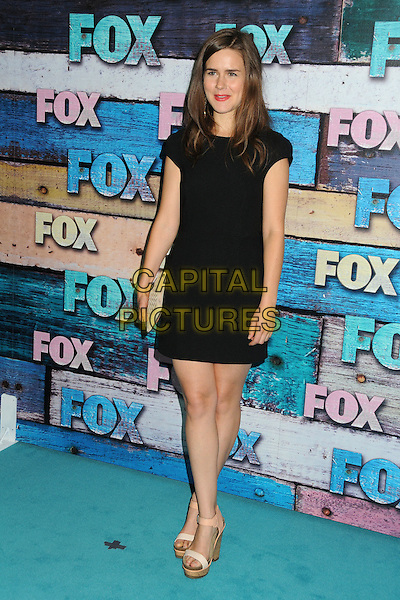 Zoe Jarman.Fox All-Star Party - Summer 2012 held at Private Location, West Hollywood, California, USA..July 23rd, 2012.full length black dress beige clutch bag shoes .CAP/ADM/BP.©Byron Purvis/AdMedia/Capital Pictures.