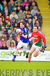 David O'Callaghan Kerry in action against Alan Dillon Mayo in the National Football League in Austin Stack Park on Sunday..