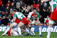 Photo: Richard Lane/Richard Lane Photography. Saracens v Biarritz. Heineken Cup. 15/01/2012. Biarritz' Dimitri Yachvili passes.