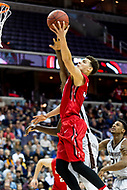 Washington, DC - MAR 10, 2018: Davidson Wildcats guard Kellan Grady (31) makes a lay up and is fouled on the play during semi final match up of the Atlantic 10 men's basketball championship between Davidson and St. Bonaventure at the Capital One Arena in Washington, DC. (Photo by Phil Peters/Media Images International)