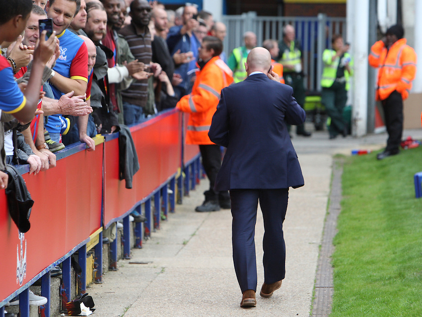 Crystal Palace's Manager Ian Holloway <br /> walking to the Box before kick off<br /> <br /> Photo by Kieran Galvin/CameraSport<br /> <br /> Football - Barclays Premiership - Crystal Palace v Swansea City - Sunday 22nd September 2013 - Selhurst Park - London<br /> <br /> &copy; CameraSport - 43 Linden Ave. Countesthorpe. Leicester. England. LE8 5PG - Tel: +44 (0) 116 277 4147 - admin@camerasport.com - www.camerasport.com