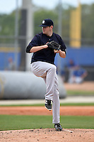New York Yankees pitcher Jordan Montgomery (53) during a minor league spring training game against the Toronto Blue Jays on March 24, 2015 at the Englebert Complex in Dunedin, Florida.  (Mike Janes/Four Seam Images)