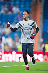 Goalkeeper Keylor Navas of Real Madrid warms up prior to the La Liga 2018-19 match between Real Madrid and Getafe CF at Estadio Santiago Bernabeu on August 19 2018 in Madrid, Spain. Photo by Diego Souto / Power Sport Images