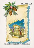 Interlitho, CHRISTMAS SANTA, SNOWMAN, nostalgic, paintings, branch(KL2457/2,#X#) Weihnachten, nostalgisch, Navidad, nostálgico, illustrations, pinturas