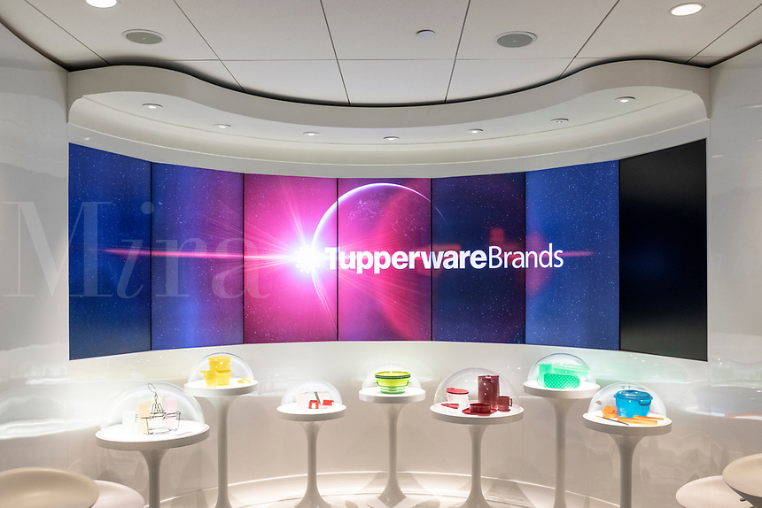 Tupperware Brands Corpotate history and product display at headquarters, Kissimmee, Florida, USA.