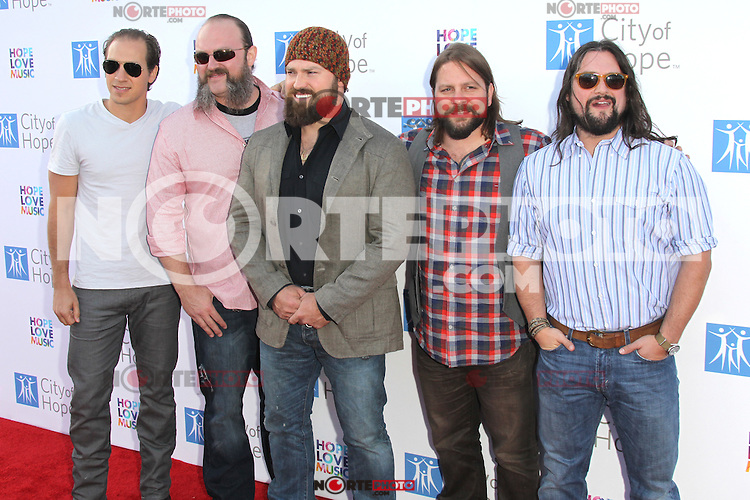 Zac Brown and The Zac Brown band at the 2012 City of Hope Gala honoring Bob Pittman with the Spirit of Life Award at The Geffen Contemporary at MOCA. Los Angeles, California. JUne 12, 2012.  © mpi28/MediaPunch Inc. NORTEPHOTO.COM<br /> NORTEPHOTO.COM