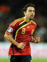 Xavi of Spain. USA defeated Spain 2-0 during the semi-finals of the FIFA Confederations Cup at Free State Stadium in Manguang/Bloemfontein, South Africa on June 24, 2009..