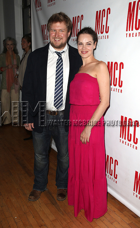 Michael Chernus & Tammy Blanchard.pictured at the Opening Night After Party for the MCC Production of Neil LaBute's  'The Heart Of The Matter'  at Ramscale in New York City on June 14, 2012
