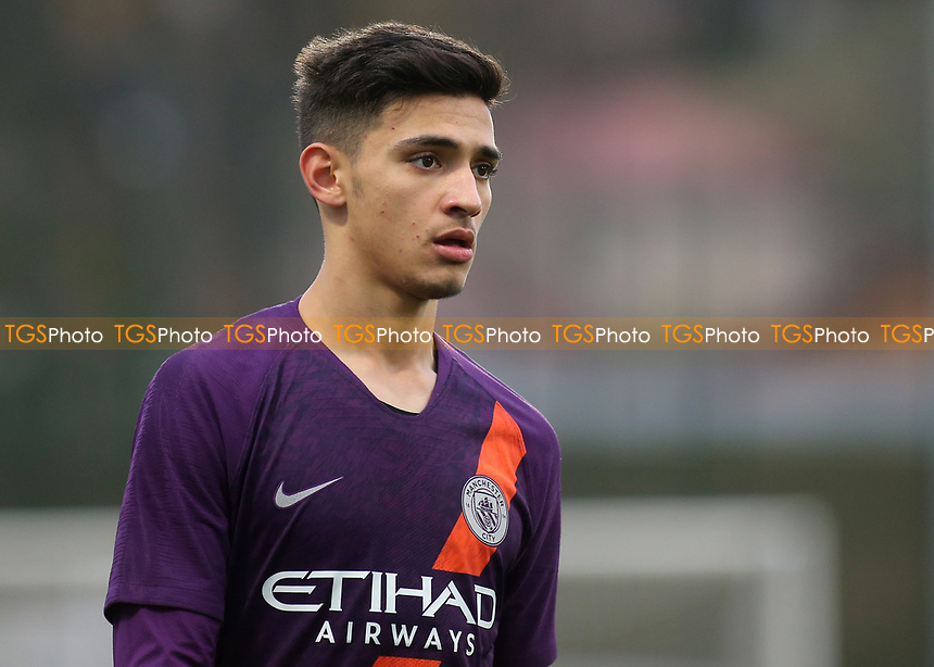 Nabil Touaizi of Manchester City U19's during Lyon Under-19 vs Manchester City Under-19, UEFA Youth League Football at Groupama OL Academy on 27th November 2018