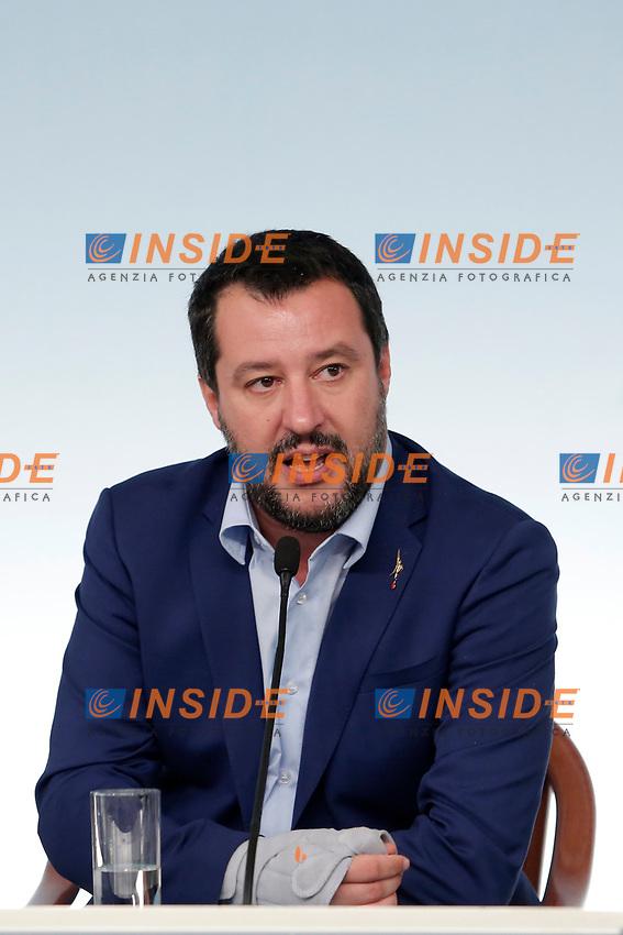 Matteo Salvini<br /> Roma 15/10/2018. Consiglio dei Ministri sulla Manovra Economica DEF.<br /> Rome October 15th 2018. Minister's Cabinet about the Economic and Financial Document.<br /> Foto Samantha Zucchi Insidefoto