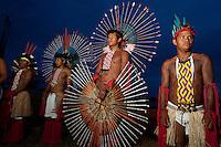 XI Jogos indígenas.<br /> Porto Nacional, Tocantins, Brasil.<br /> Foto Paulo Santos.<br /> 10/11/2011.<br /> <br /> XI Jogos dos Povos Indígenas -  Índios Karajá <br /> <br /> O evento, que acontece entre os dias 5 e 12 de novembro, tem como sede o município tocantinense de Porto Nacional, que fica a cerca de 60km da capital, Palmas. São sete dias de competições e apresentações culturais, com a participação de cerca de 1.300 indígenas, de aproximadamente 35 etnias, vindas de todas as regiões do país. São esperados ainda líderes e observadores indígenas de outros países (Argentina, Austrália, Bolívia, Canadá, Equador, EUA, Guiana Francesa, Peru e Venezuela). Foto Paulo Santos10/11/2011Ilha de Porto Real, Porto Nacional, Brasil