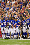 24 September 2006: Buffalo Bills players await the start of the game against the New York Jets at Ralph Wilson Stadium in Orchard Park, NY. The Jets defeated the Bills 28-20. Mandatory Photo Credit: Ed Wolfstein Photo