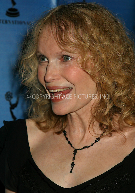 Mia Farrow at the 30th International Emmy Awards in New York. November 25, 2002. Please byline: Alecsey Boldeskul/NY Photo Press.   ..*PAY-PER-USE*      ....NY Photo Press:  ..phone (646) 267-6913;   ..e-mail: info@nyphotopress.com