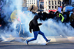 Thursday January 16, 2020 - French Protesters.<br /> <br /> National strike in France against pension reform.<br /> Violent altercation between policeman and black blocks in the city of Lyon.<br /> <br /> Please byline: Romain Doucelin/Solent News<br /> <br /> © Romain Doucelin/Solent News & Photo Agency<br /> UK +44 (0) 2380 458800