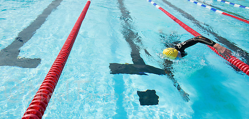 28 SEP 2013 - LONDON, GBR - Paul Gosney during the 7.3 mile swim at Charlton Lido in London, Great Britain as part of the Enduroman 2013 Lands End to London to Dover ultra triathlon (PHOTO COPYRIGHT © 2013 NIGEL FARROW, ALL RIGHTS RESERVED)