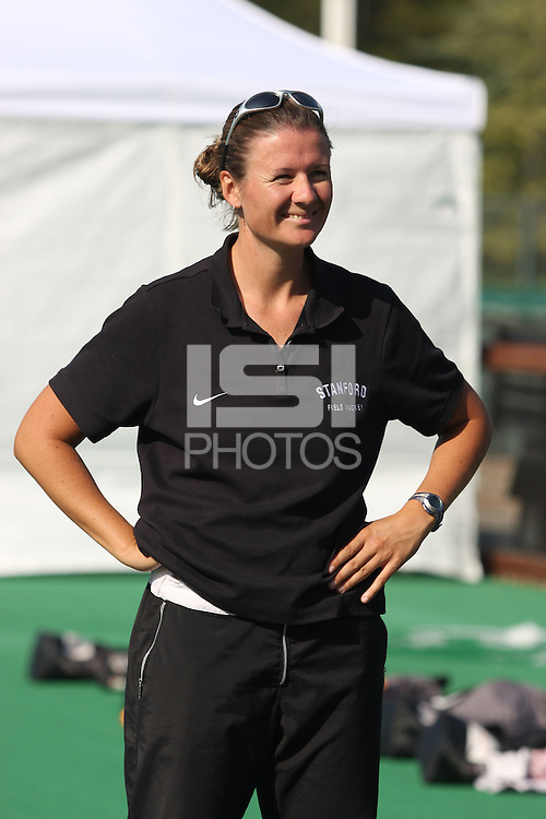 6 November 2007: Stanford Cardinal head coach Lesley Irvine during Stanford's 1-0 win against the Lock Haven Lady Eagles in an NCAA play-in game to advance to the NCAA tournament at the Varsity Field Hockey Turf in Stanford, CA.