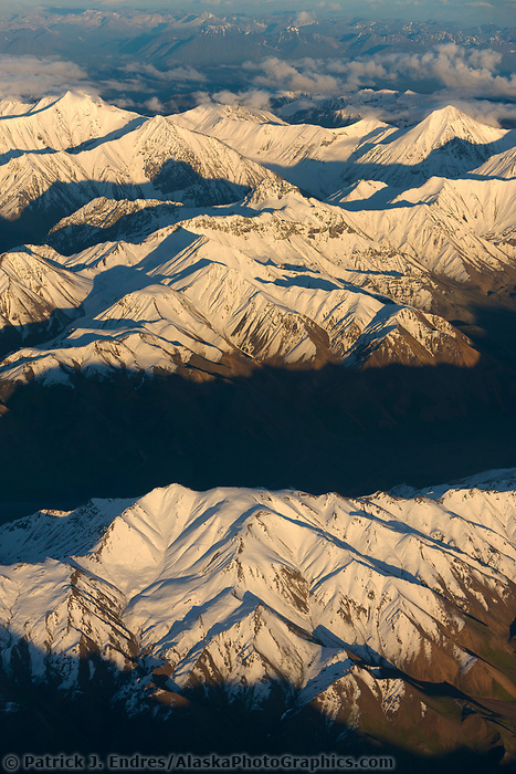 Fresh snow on the Alaska Range mountains, Denali National Park, Interior, Alaska.