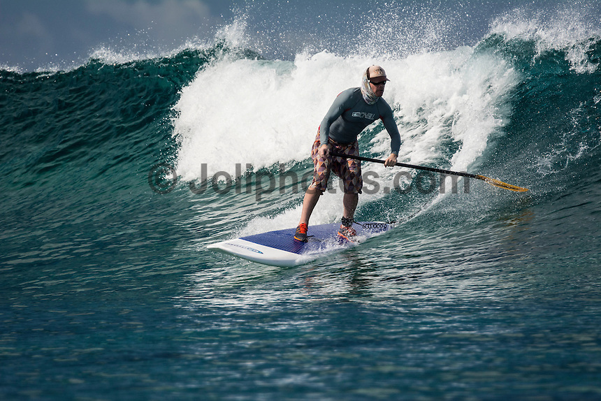 Namotu Island Resort, Fiji. Monday February 2 2015) - The surf was in the 2' range for most of the day with the guests splitting themselves between SUPing and surfing at Namotu Lefts, surfing at Despos, going fishing and watching the NFL Super Bowl on TV.  Photo: joliphotos.com
