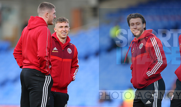 Sheffield United's Ben Osborn and Sheffield United's Luke Freeman during the Premier League match at Selhurst Park, London. Picture date: 1st February 2020. Picture credit should read: Paul Terry/Sportimage