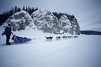 Clint Warnake on Yukon River After Leaving Ruby